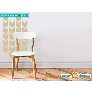 Sunny Decals Chevron Arrows Fabric Wall Decal (Set of 26); Beige