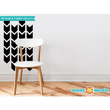 Sunny Decals Chevron Arrows Fabric Wall Decal (Set of 26); Black
