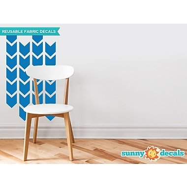 Sunny Decals Chevron Arrows Fabric Wall Decal (Set of 26); Blue