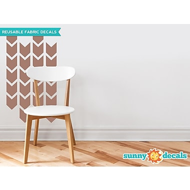 Sunny Decals Chevron Arrows Fabric Wall Decal (Set of 26); Brown