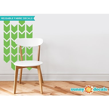 Sunny Decals Chevron Arrows Fabric Wall Decal (Set of 26); Green