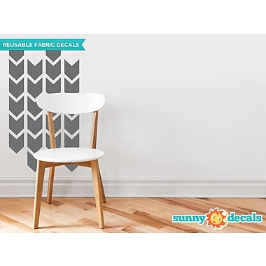 Sunny Decals Chevron Arrows Fabric Wall Decal (Set of 26); Charcoal