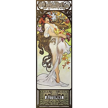 Portfolio Canvas Automne by Alphonse Mucha Painting Print on Wrapped Canvas
