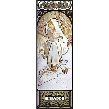 Portfolio Canvas Hiver by Alphonse Mucha Painting Print on Wrapped Canvas