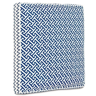 Hen Feathers Epic Preppy Chive Boxed Throw Pillow