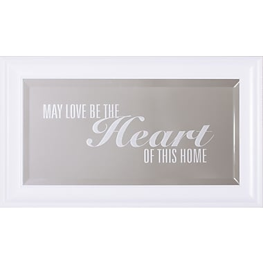 Art Effects Heart Of This Home Framed Wall Mirror