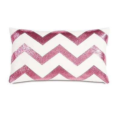 Hen Feathers Epic Preppy Sparkle Lumbar Pillow