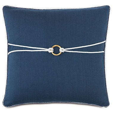 Hen Feathers Nautical Bamboo Knot Throw Pillow