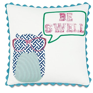 Hen Feathers Epic Preppy Be Swell Throw Pillow
