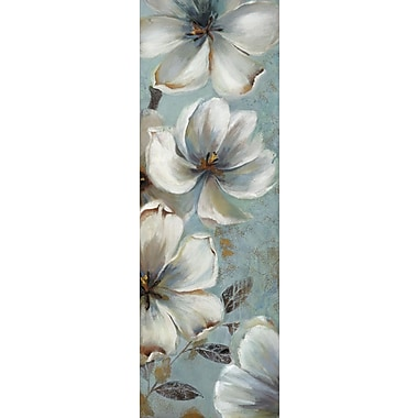 Portfolio Canvas Fragrant Blues Panel 1 by Sandy Doonan Painting Print on Wrapped Canvas