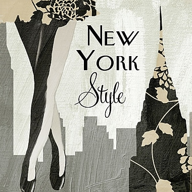 Portfolio Canvas New York Style I by Mindy Sommers Graphic Art on Wrapped Canvas