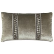 Hen Feathers Ezra Velda Smoke Lumbar Pillow