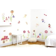 Fun To See Enchanted Garden Fairies Room D cor Kit Wall Decal