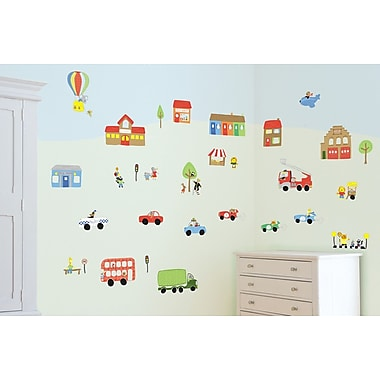Fun To See Jolly Town Transport Room D cor Kit Wall Decal