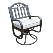 Oakland Living Rochester Swivel Dining Arm Chair w/ Cushion (Set of 2)