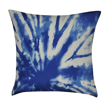 Loom and Mill Tie-Dye Decorative Cotton Throw Pillow; Blue