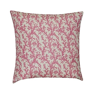 Loom and Mill Branches Decorative Throw Pillow; Pink