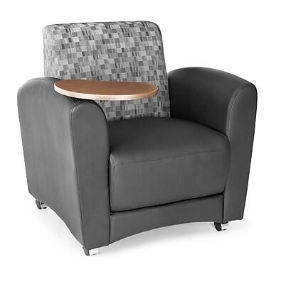 OFM Interplay Polyurethane Single Tablet Chair, Nickel/Black (821-N-606-BRONZ)