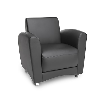 OFM Interplay Polyurethane Single Chair No Tablet, Black (821-PU606NT)