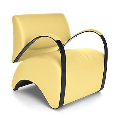 OFM Recoil Vinyl Lounge Chair, Yellow (841-PU009)
