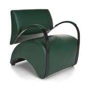 OFM Recoil Vinyl Lounge Chair, Dark Green (841-PU010)