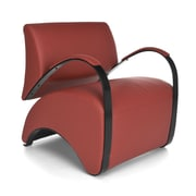 OFM Recoil Vinyl Lounge Chair, Red (841-PU011)