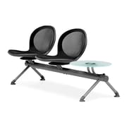 OFM Net Series Two Seats and Two Table Beam, Black (NB-3G-BLACK)
