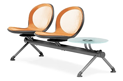 OFM Net Series Two Seats and One Table Beam, Orange (NB-3G-ORANGE)