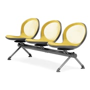 OFM Net Series Three-Seat Beam, Yellow (NB-3-YELLOW)