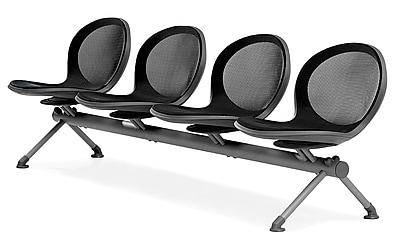 OFM Net Series 4-Seat Beam, Black (NB-4-BLACK)