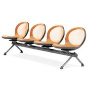 OFM Net Series Four-Seat Beam, Orange (NB-4-ORANGE)