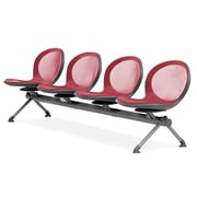 OFM Net Series 4 Seat Beam, Red (NB-4-RED)