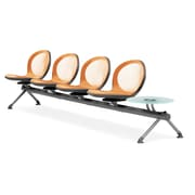 OFM Net Series Four Seats and One Table Beam, Orange (NB-5G-ORANGE)