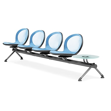 OFM Net Series Four Seats and One Table Beam, Skyblue (NB-5G-SKYBLUE)
