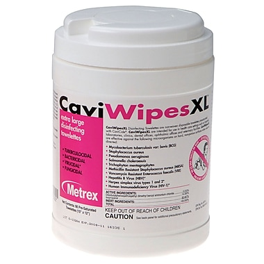 "CaviWipes XL Disinfectant Wipes, 9"" x 12"", 12/Pack"