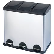 The Point Gallery Step N' Sort 3-Compartment Trash & Recycling Bin, 60L