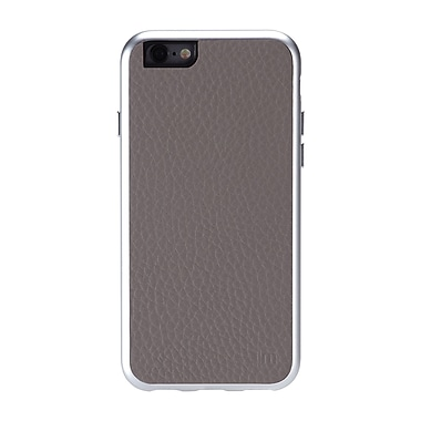 Just Mobile – Étui AluFrame en cuir pour iPhone 6, gris