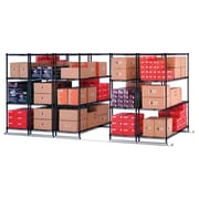 "OFM X5 Lite Five Four-Shelf Units, 48"" x 24"", Tracks Included, Black (X5L5-4824-BLK)"
