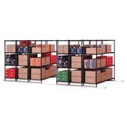 "OFM X5 Lite 6 48""W x 24""H Four-Shelf Units, Black, Tracks Included (X5L6-4824-BLK)"