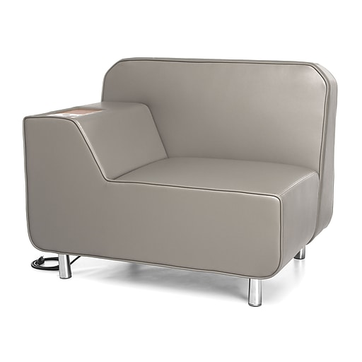 Sensational Ofm Serenity Right Arm Lounge Chair W Electrical Outlet Bronze Tablet Taupe Seat Chrome Legs Ibusinesslaw Wood Chair Design Ideas Ibusinesslaworg