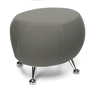OFM Jupiter Series Fabric Ball Stool, Gray with Chrome Finish (2001-2315)