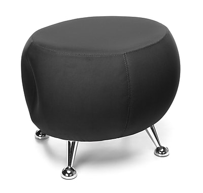 OFM Jupiter Series Fabric Ball Stool, Black with Chrome Finish (2001-2327)