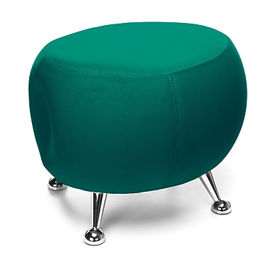 OFM Jupiter Series Fabric Ball Stool, Green with Chrome Finish (2001-2331)