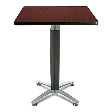 OFM – Table à café carrée avec plateau stratifié de 30 po au fini acajou et base en treillis métallique (845123053300)