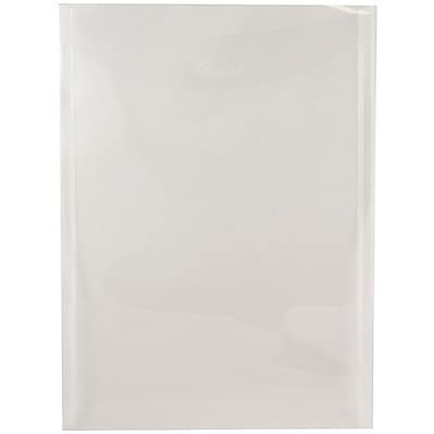 JAM Paper® Plastic Envelopes with Tuck Flap Closure, Letter Open End, 9 7/8 x 11 3/4, Clear Poly, 12/Pack (1541729)