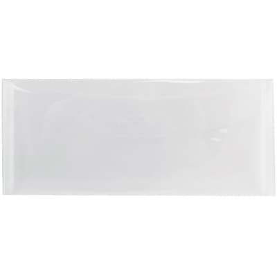 JAM Paper® #10 Plastic Envelopes with Tuck Flap Closure, 4 1/4 x 9 3/4, Clear Poly, 12/Pack (1541740)