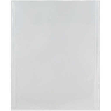 JAM Paper® Plastic Envelopes with Tuck Flap Closure, Open End, 11 x 14, Clear Poly, 12/Pack (1541749)