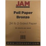 JAM Paper® Foil Paper 2-Sided, 8.5 x 11, 24lb Bronze, 50/pack (1683735)