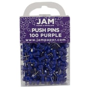 JAM Paper® Push Pins, Purple Pushpins, 100/Pack (222419053)
