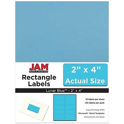 JAM Paper® Mailing Address Labels, 2 x 4, Blue, 120/pack (302725768)